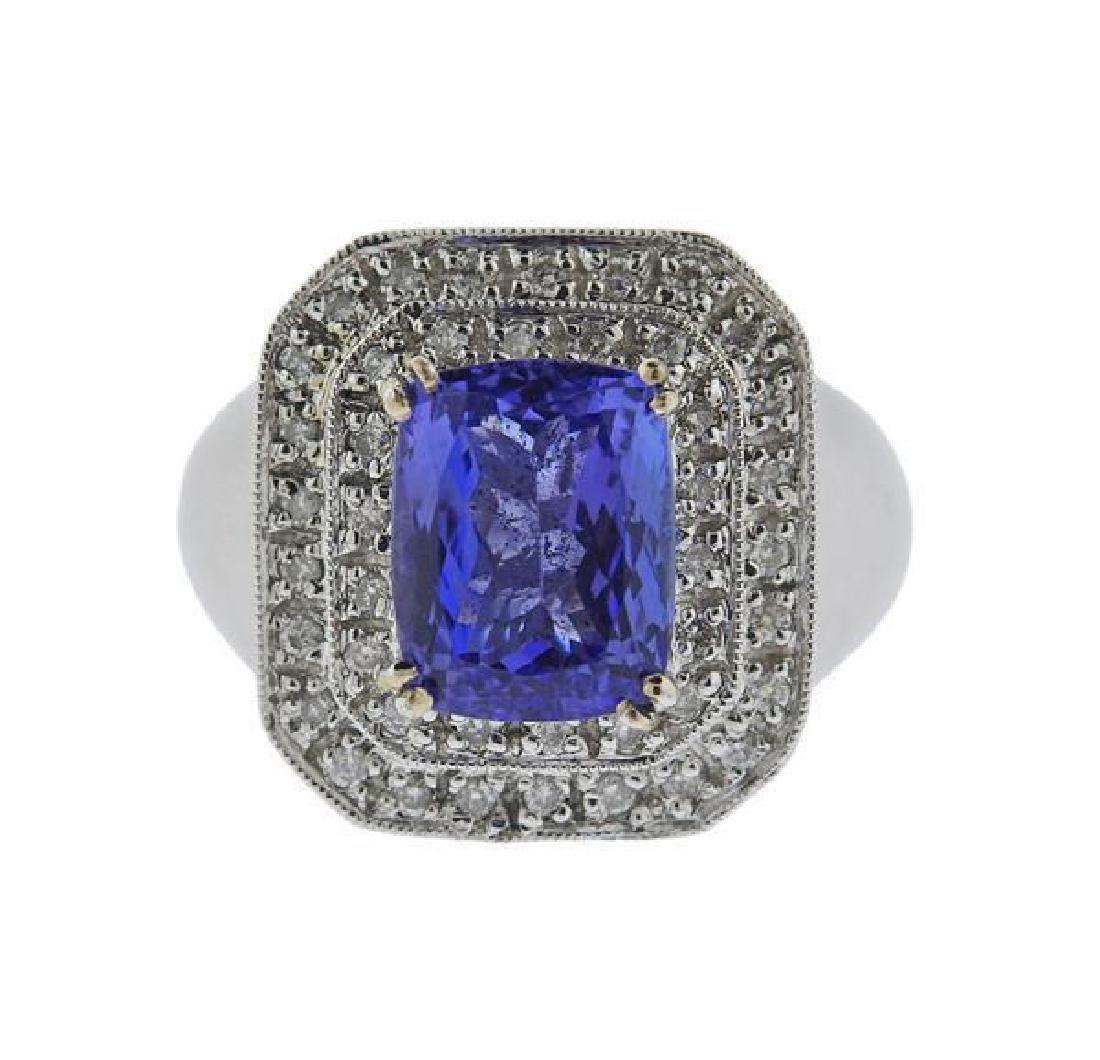 18K Gold Diamond Tanzanite Ring