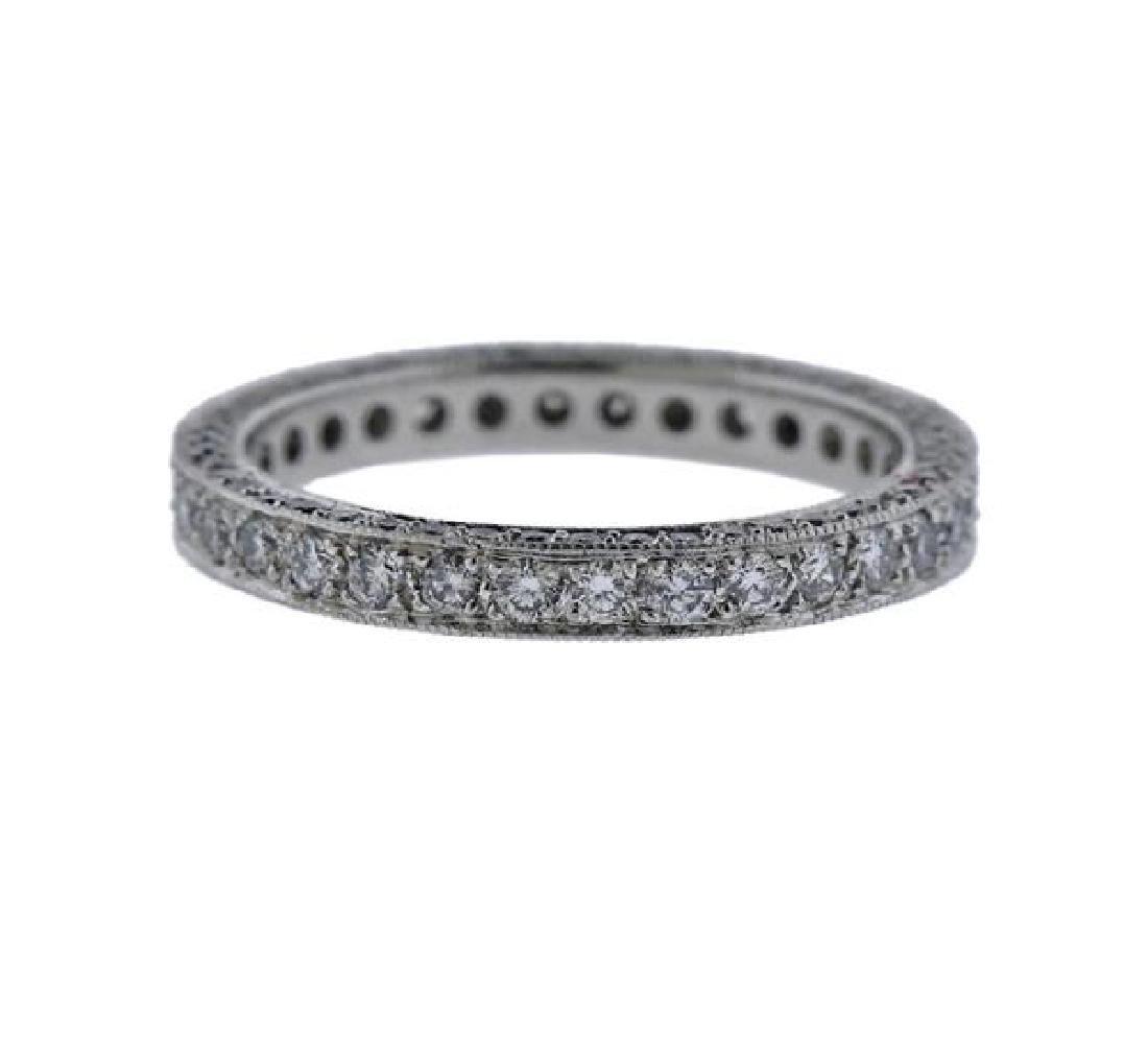 Martin Flyer Platinum Diamond Eternity Wedding Ring