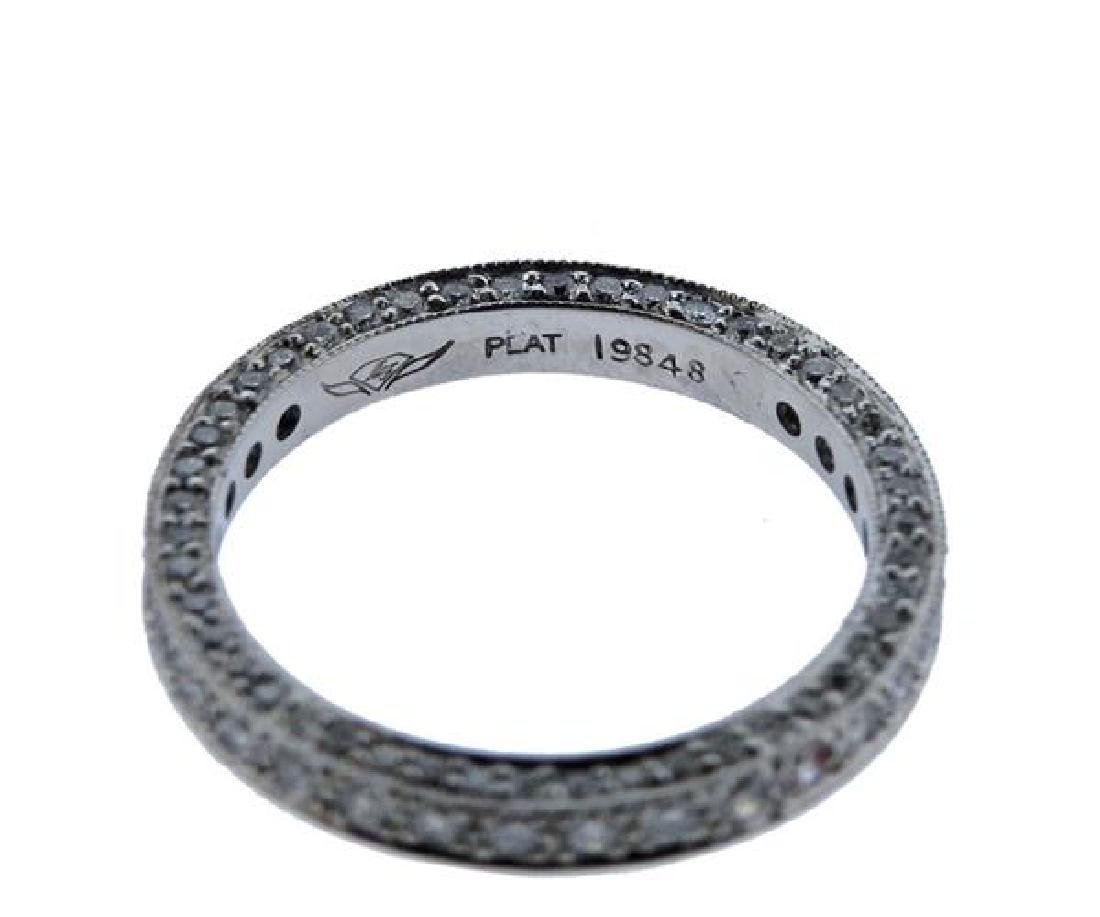 Martin Flyer Platinum Diamond Eternity Wedding Ring - 3