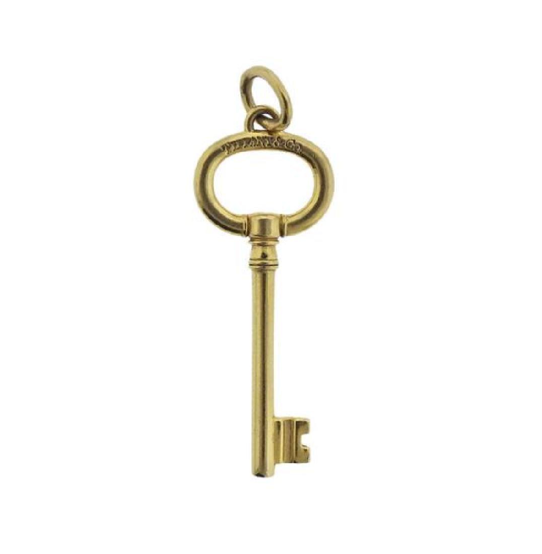 Tiffany & Co 18K Gold Key Pendant