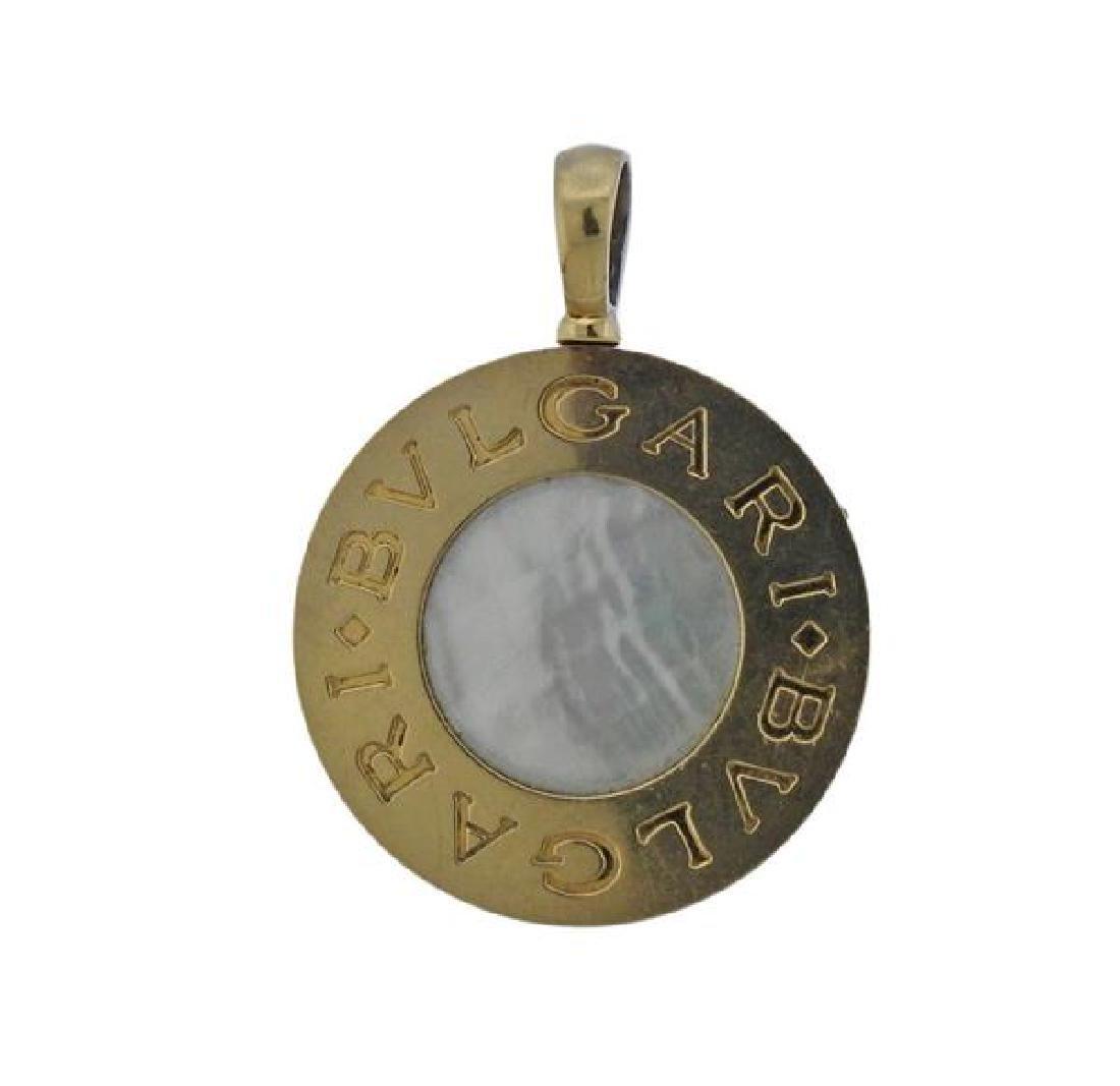 Bulgari Bvlgari 18K Gold Steel MOP Onyx Pendant