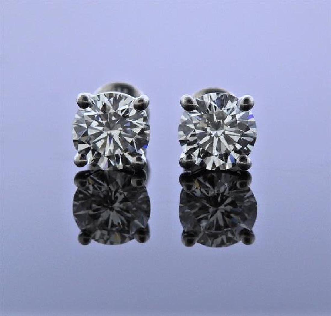 Tiffany & Co Paltinum 2.53ctw Diamond Stud Earrings