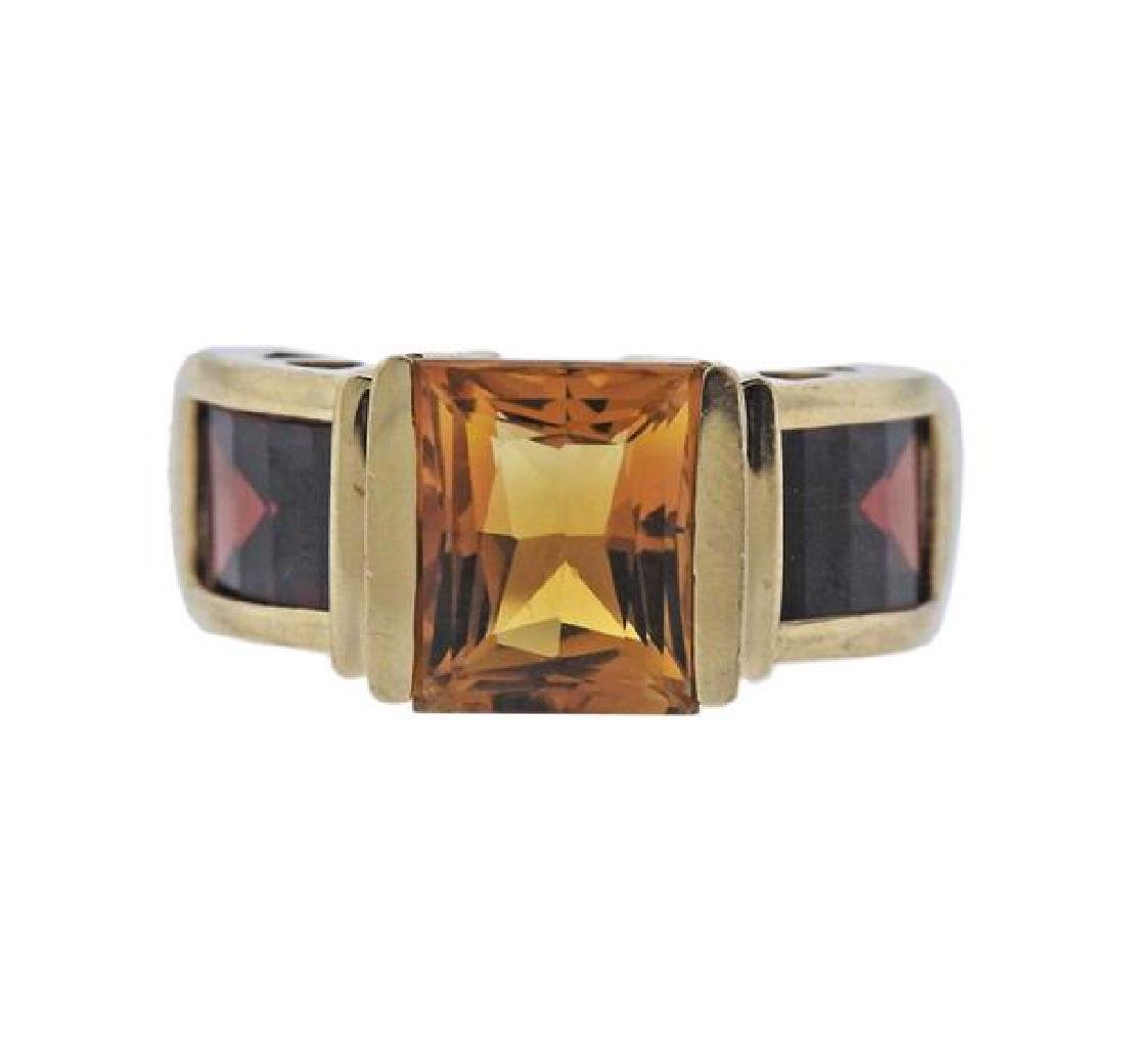 14k Gold Color Stone  Ring