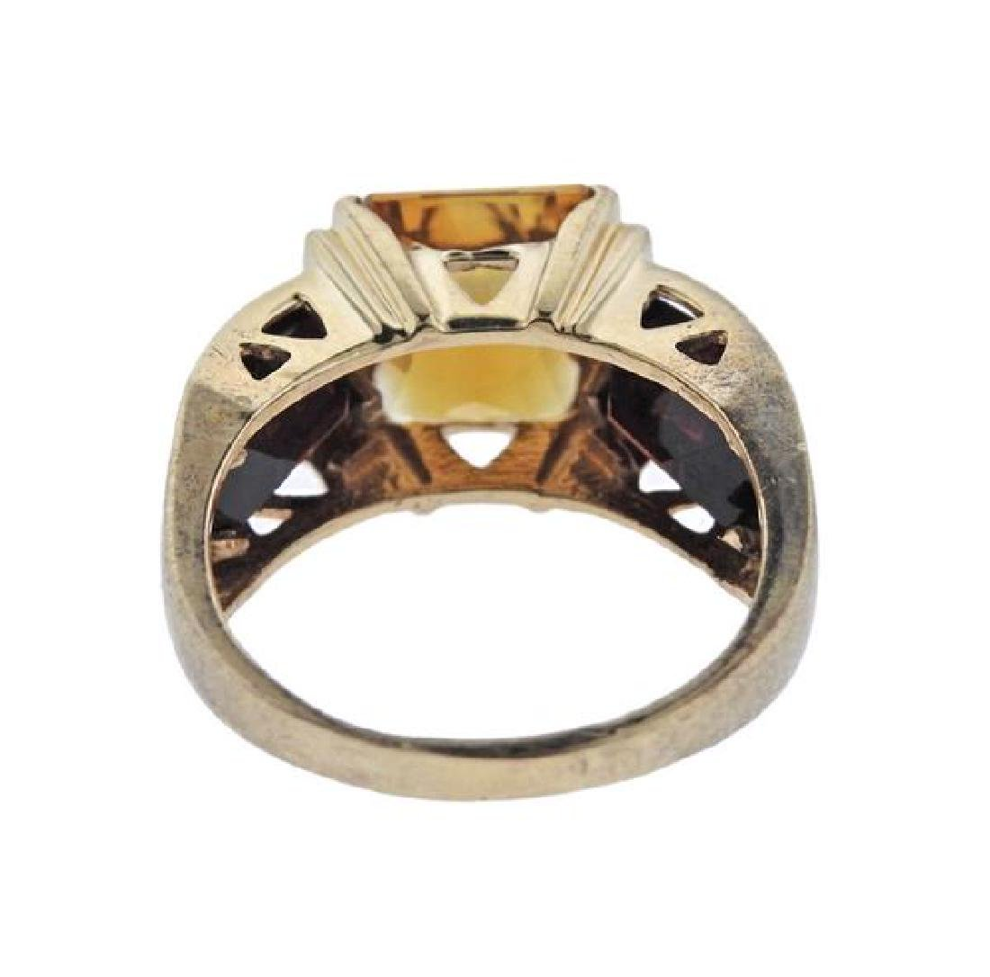 14k Gold Color Stone  Ring - 3