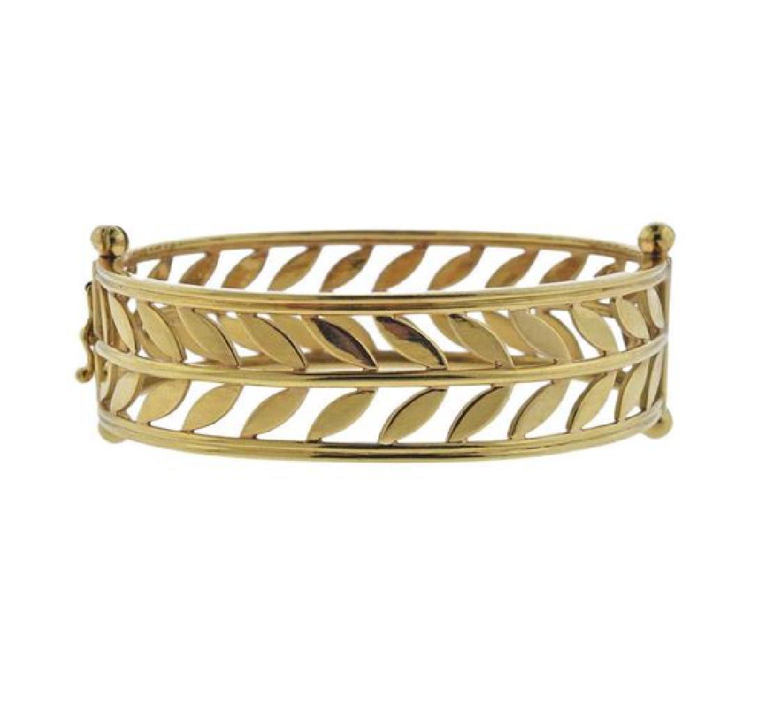 Temple St. Clair Vine 18K Gold Bangle Bracelet