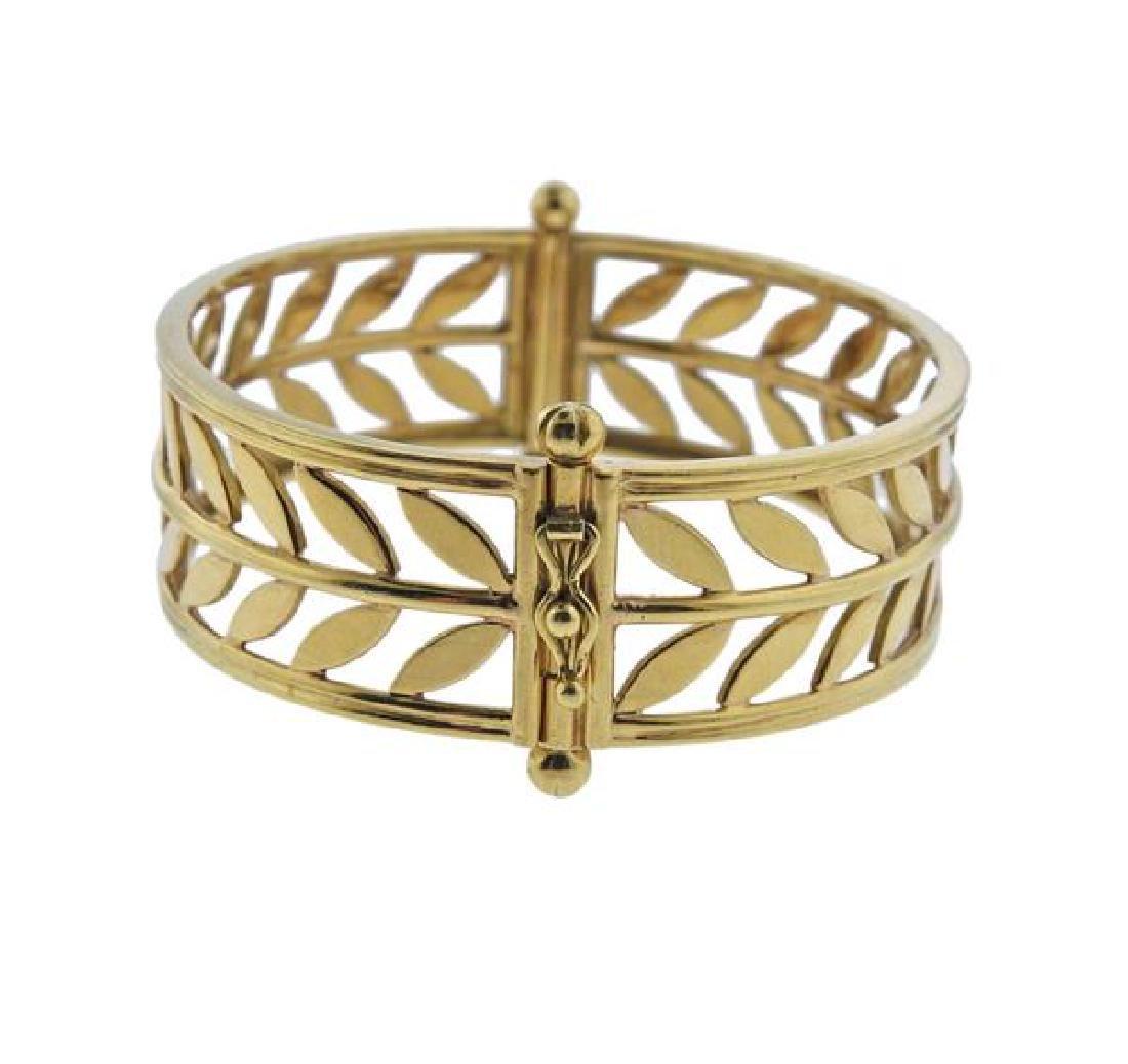 Temple St. Clair Vine 18K Gold Bangle Bracelet - 2
