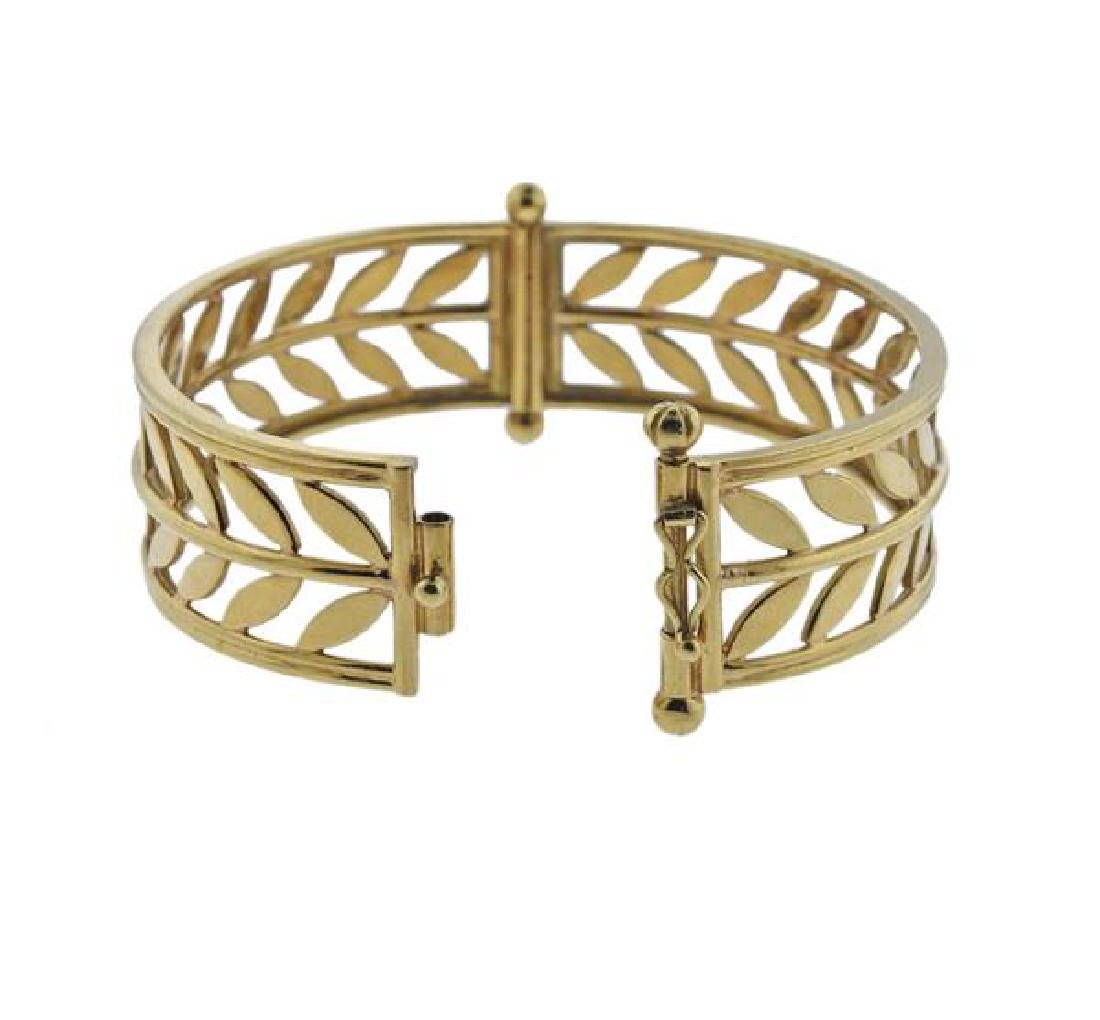 Temple St. Clair Vine 18K Gold Bangle Bracelet - 3