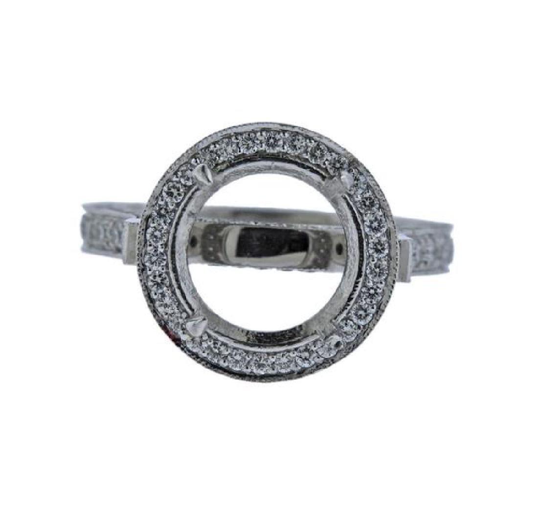 Martin Flyer Platinum Diamond Engagement Ring Mounting