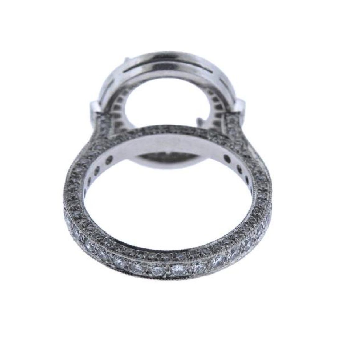 Martin Flyer Platinum Diamond Engagement Ring Mounting - 3