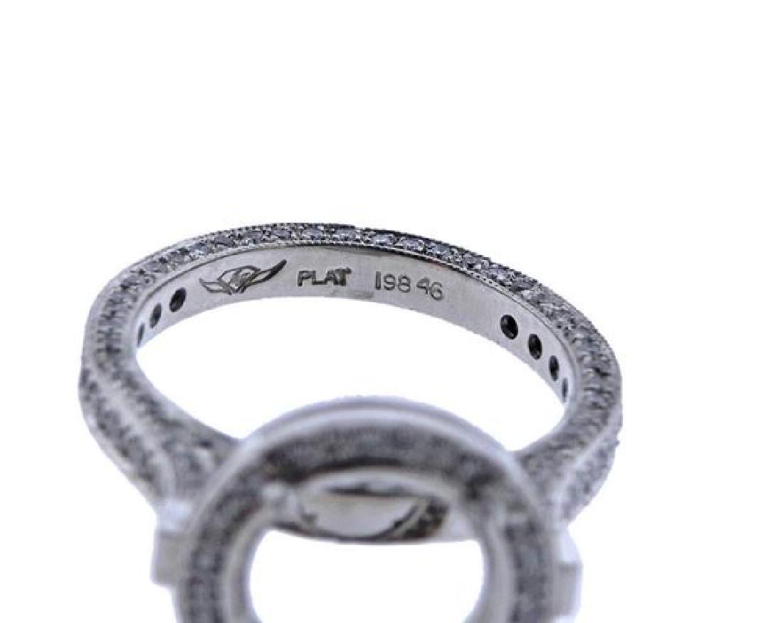 Martin Flyer Platinum Diamond Engagement Ring Mounting - 4