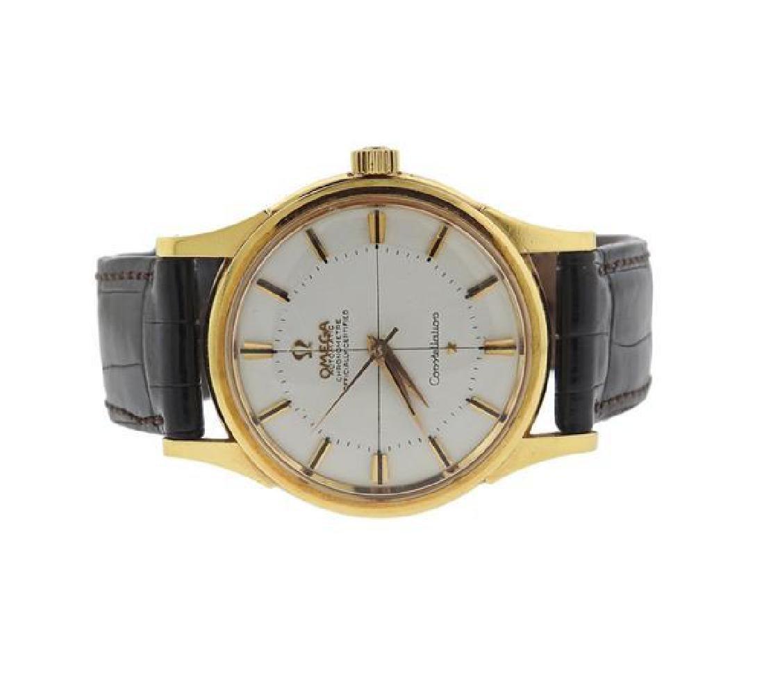 Omega Constellation 14k Gold Chronometer Watch - 2