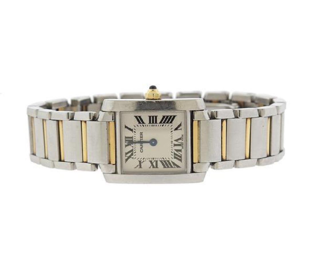 Cartier Tank Francaise 18k Gold Steel Watch