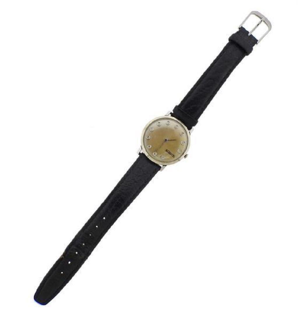 LeCoultre Steel Diamond Manual Wind Watch