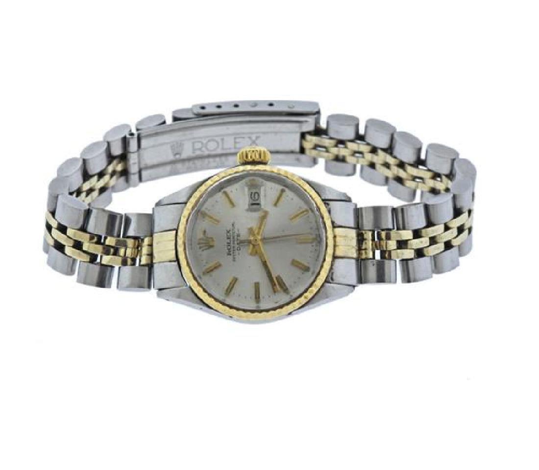 Rolex Date Gold Steel Lady's Watch