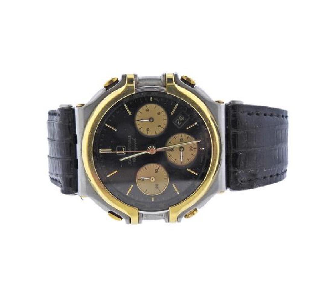 Jean Lassale Chronograph 18k Gold Steel Watch