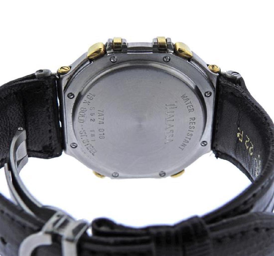 Jean Lassale Chronograph 18k Gold Steel Watch - 3