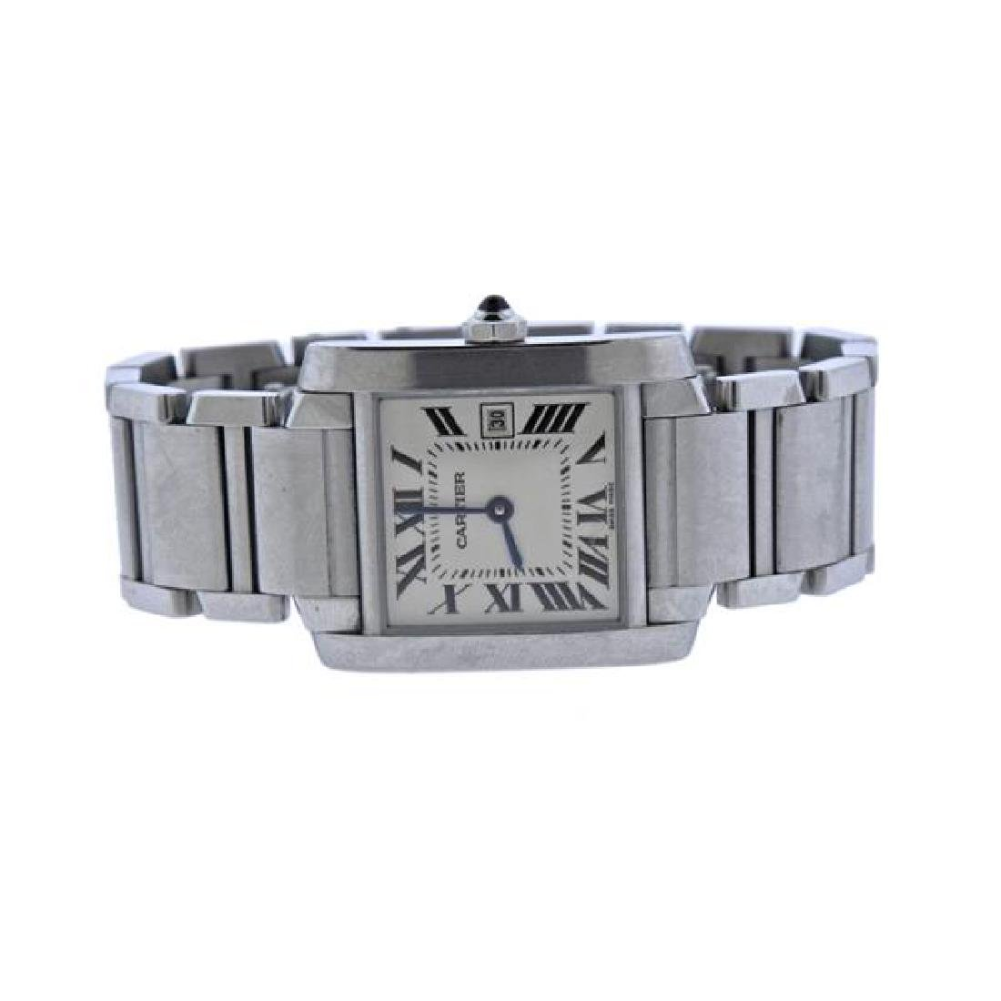 Cartier Tank Francaise Stainless Steel Watch