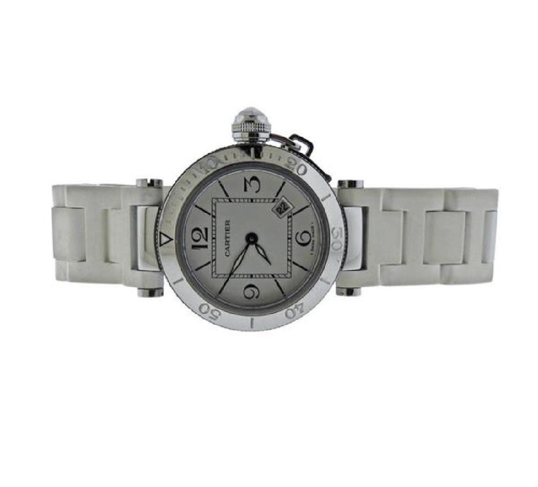 Cartier Pasha Steel Rubber Watch