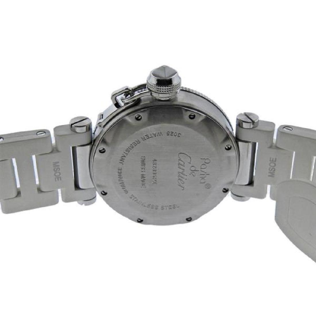 Cartier Pasha Steel Rubber Watch - 3