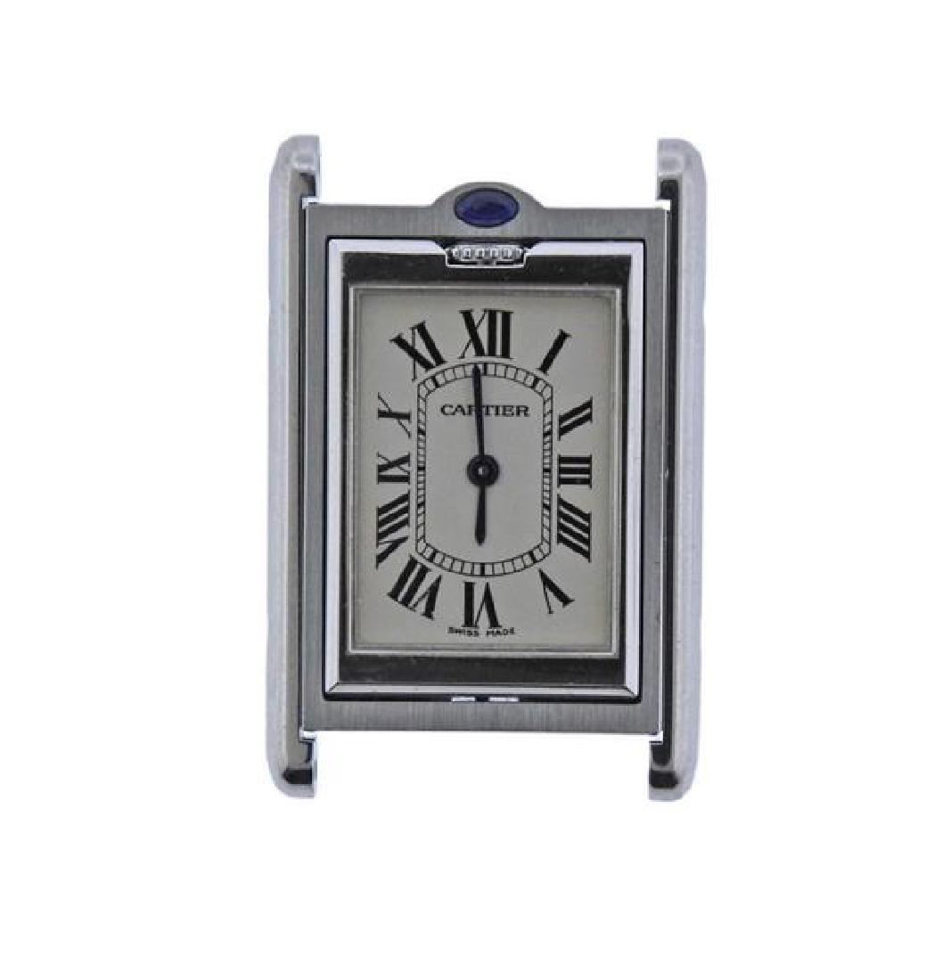 Cartier Tank Basculante Steel  Watch