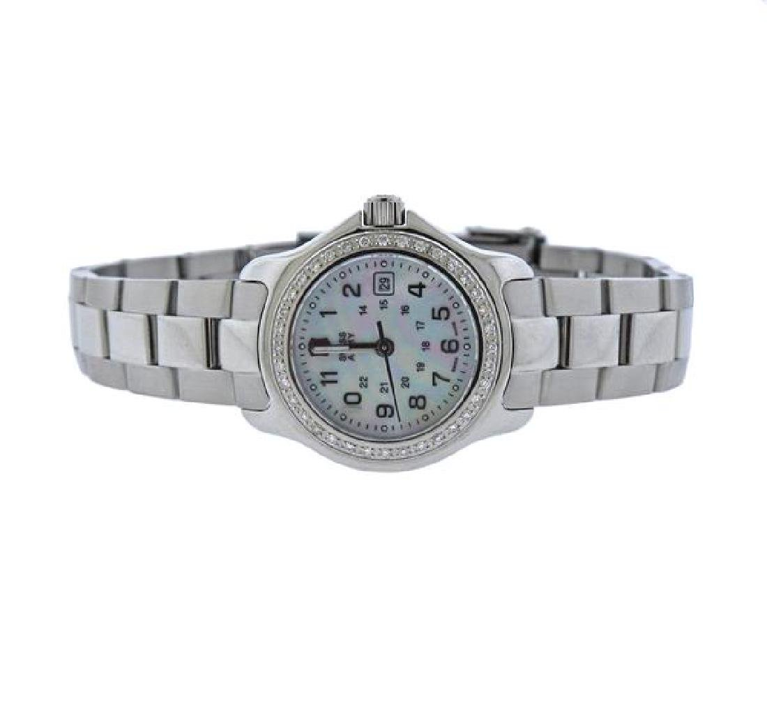 Swiss Army Steel Diamond MOP Quartz Lady's Watch