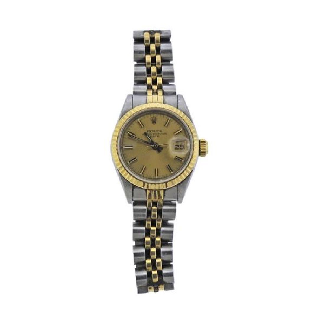 Rolex Date 18k Gold Steel Watch 69173