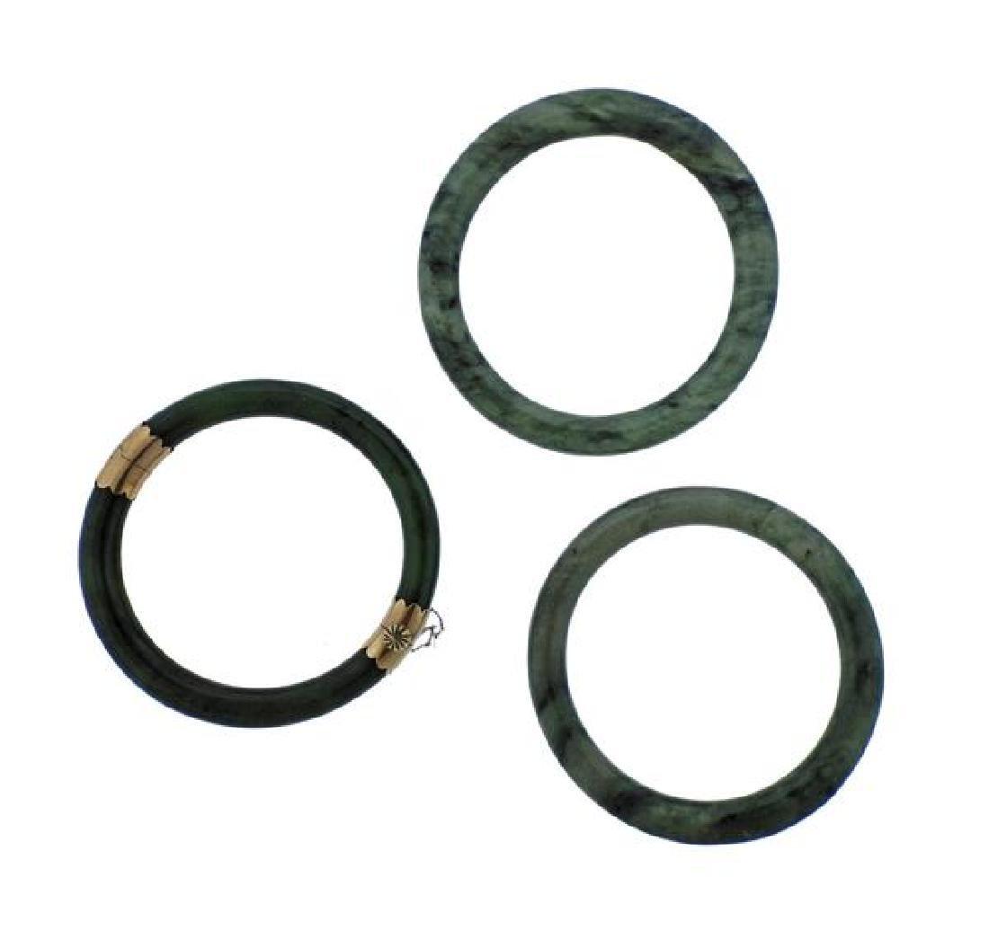 Jade Bangle Bracelet Lot of 3