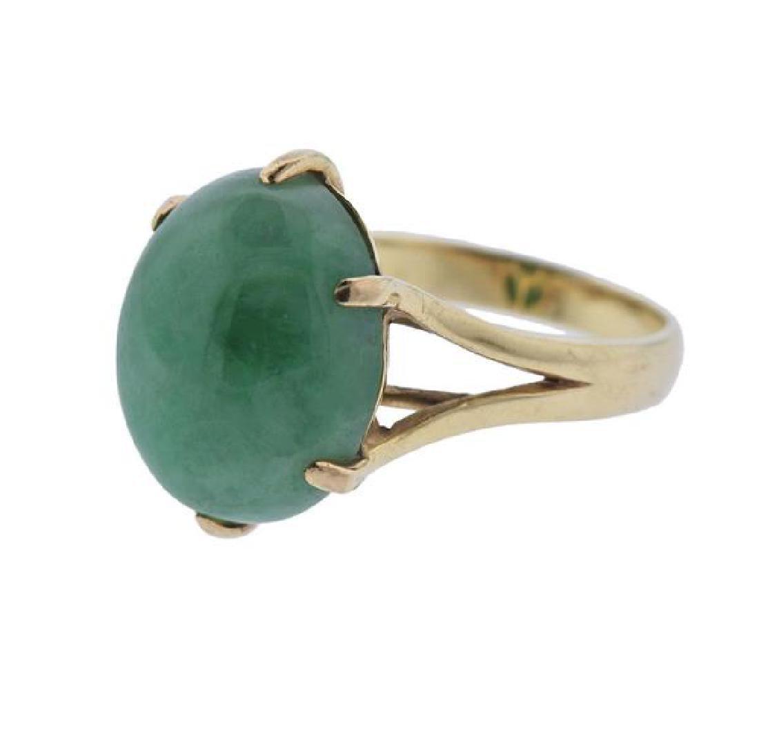 14k Gold Jade Ring - 2