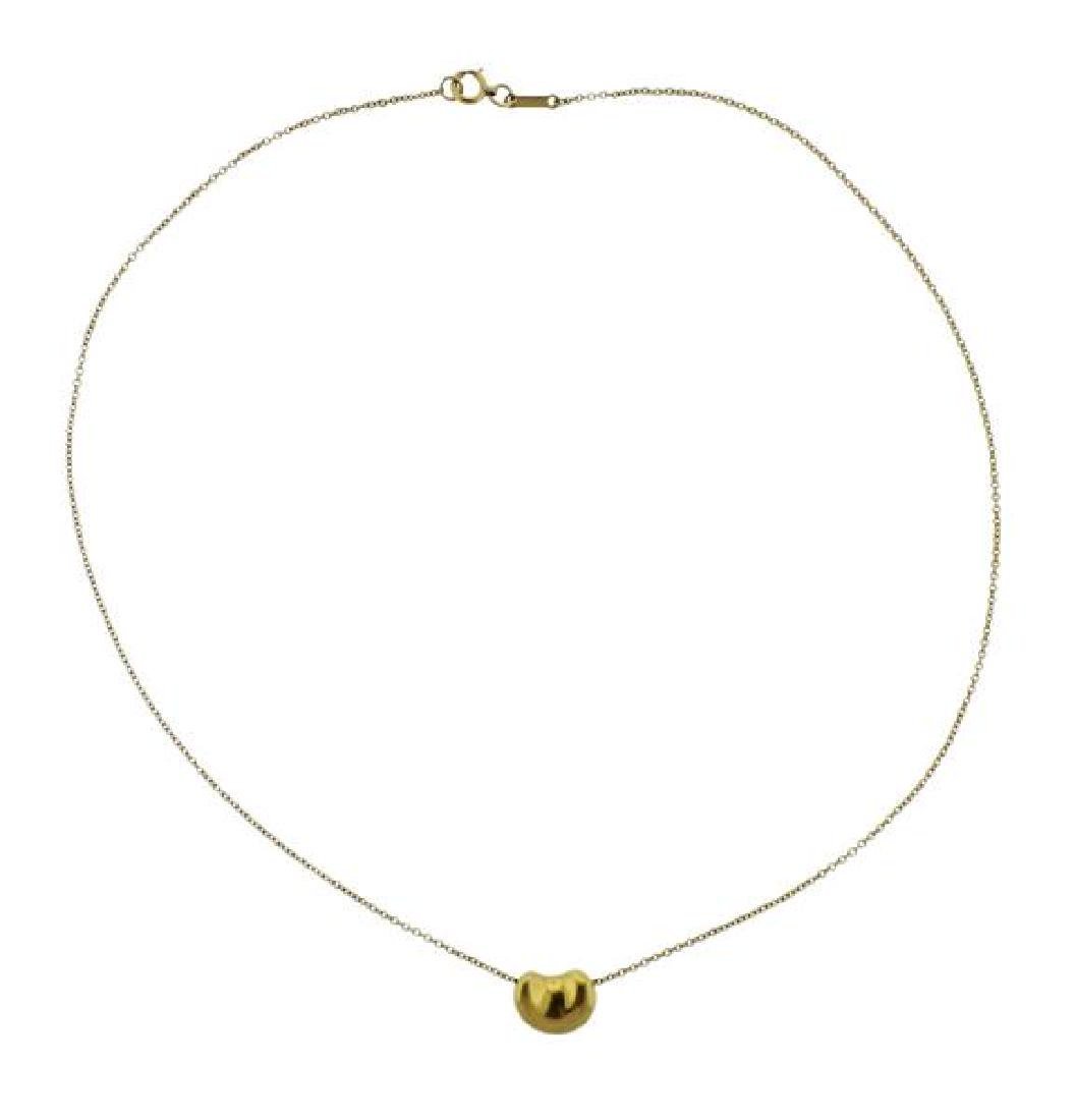 Tiffany & Co Peretti 18k Gold Bean Necklace