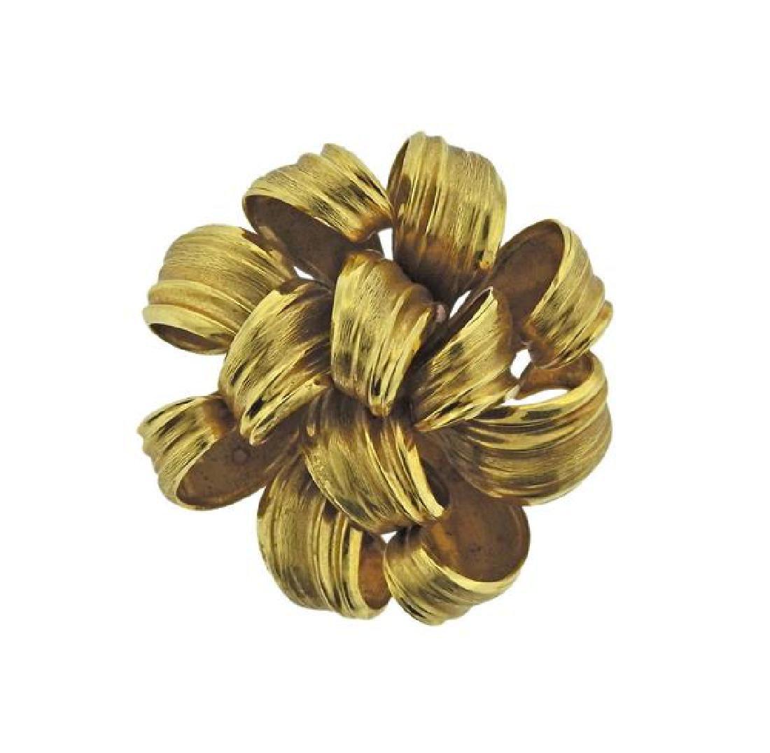 Tiffany & Co 1965 Grosse Germany 18K Gold Brooch