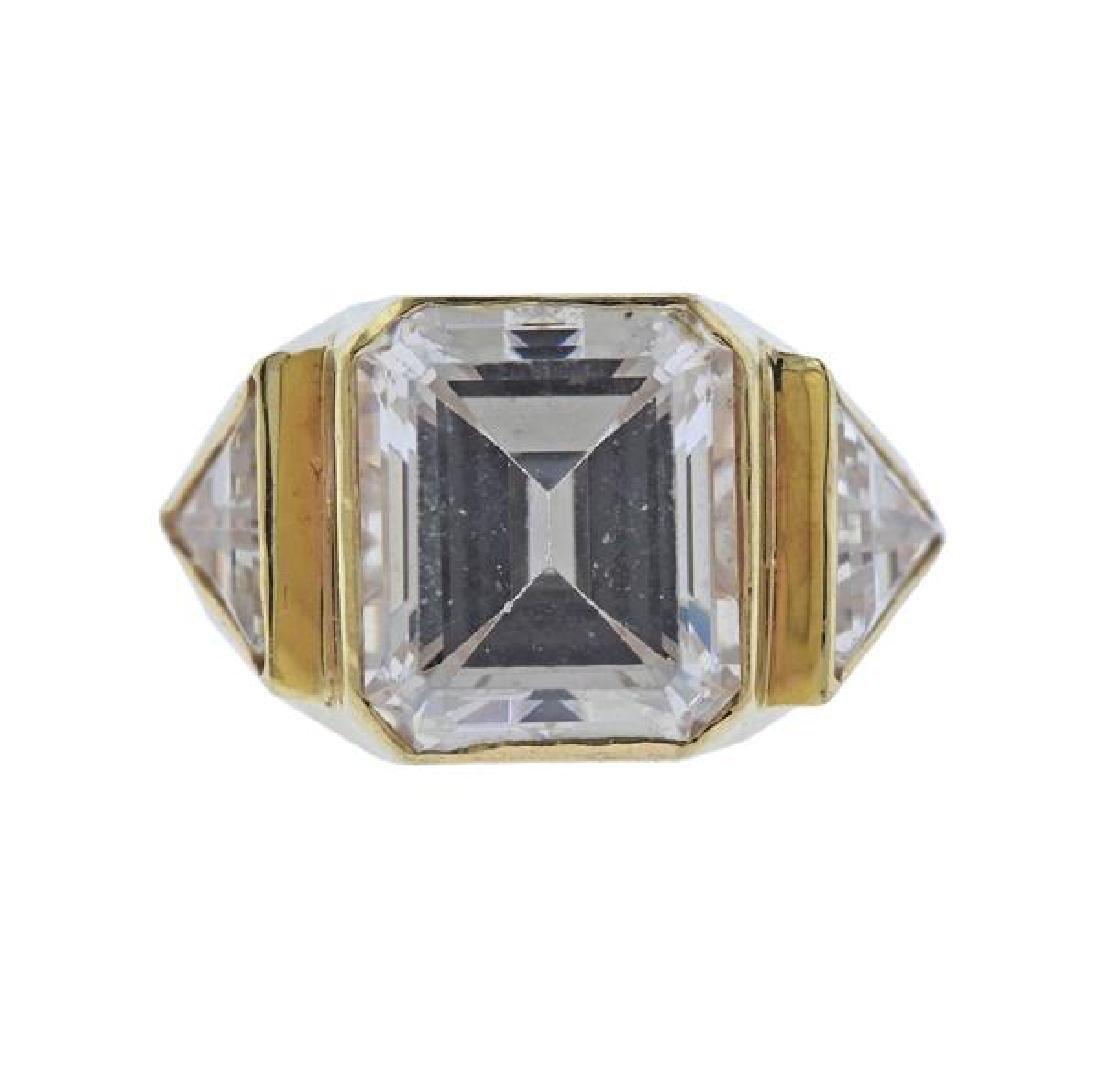 14K Gold CZ Ring