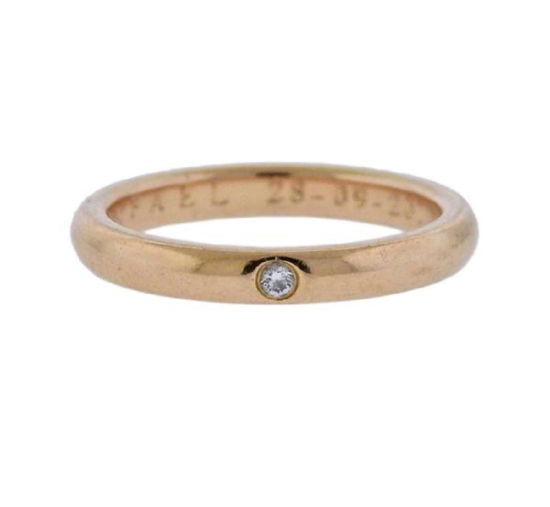 Tiffany & Co Peretti Gold Diamond Wedding Band Ring