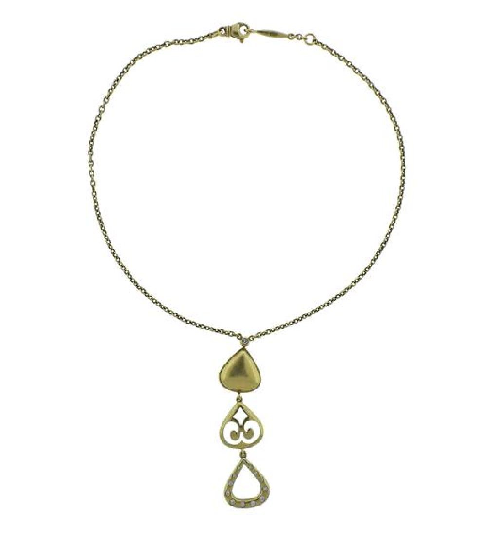 Elizabeth Rand 18k Gold Pendant Necklace