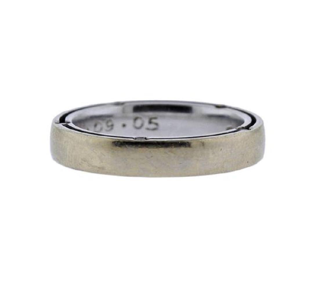 Damiani D Side 18k Gold Diamond Wedding Band Ring