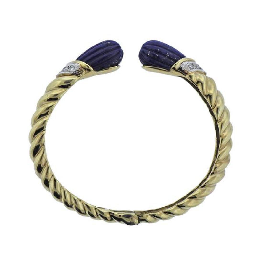 Pebbles 14k Gold Lapis Diamond Bracelet