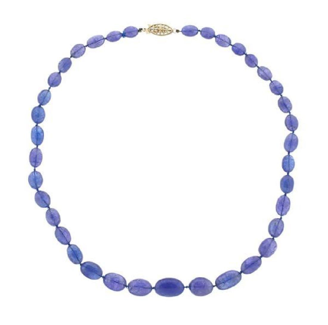 170Ctw Tanzanite 14K Gold Necklace