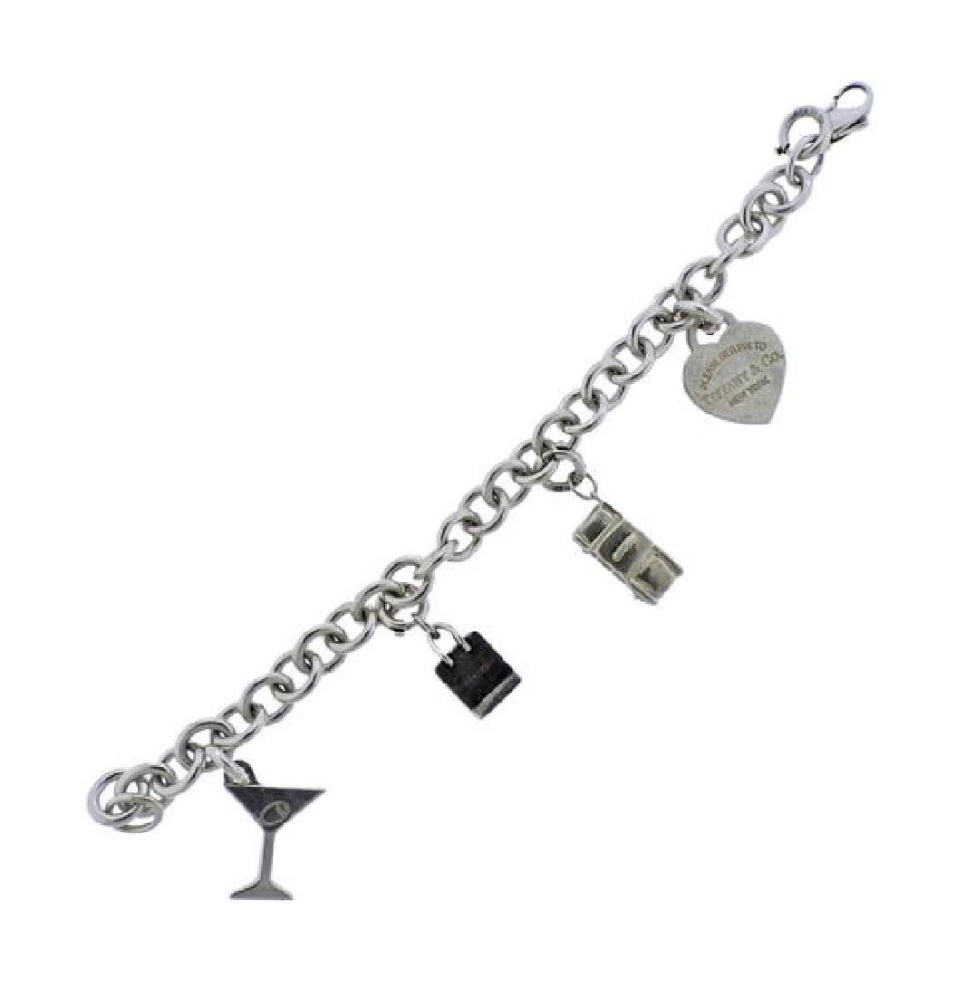 Tiffany & Co Silver Charm Bracelet