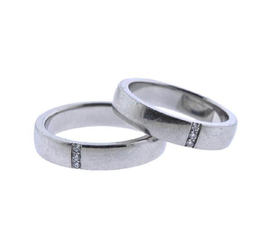 Harry Winston Platinum Diamond Wedding Ring Set