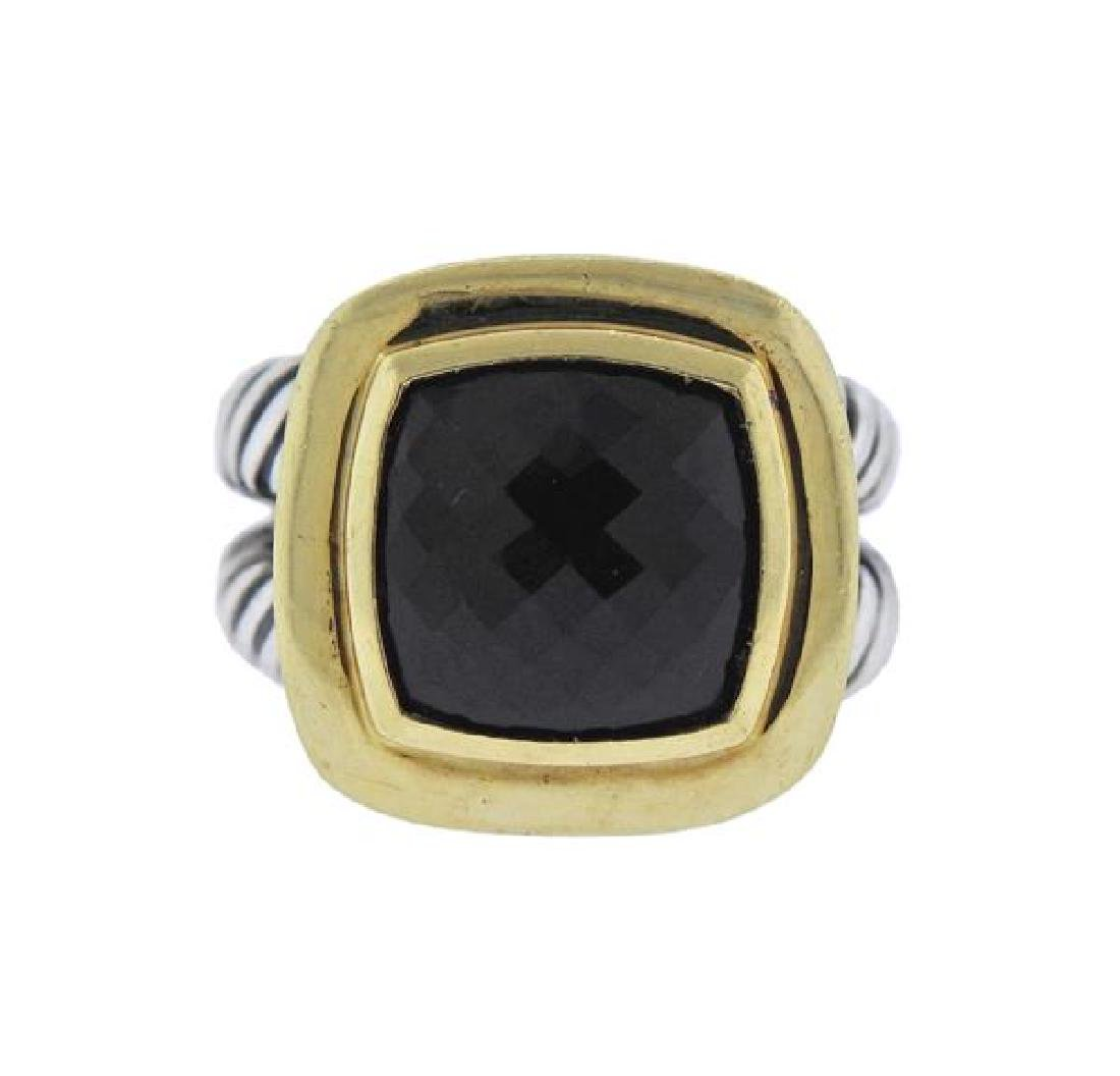 David Yurman Albion 18k Gold Silver Onyx Ring