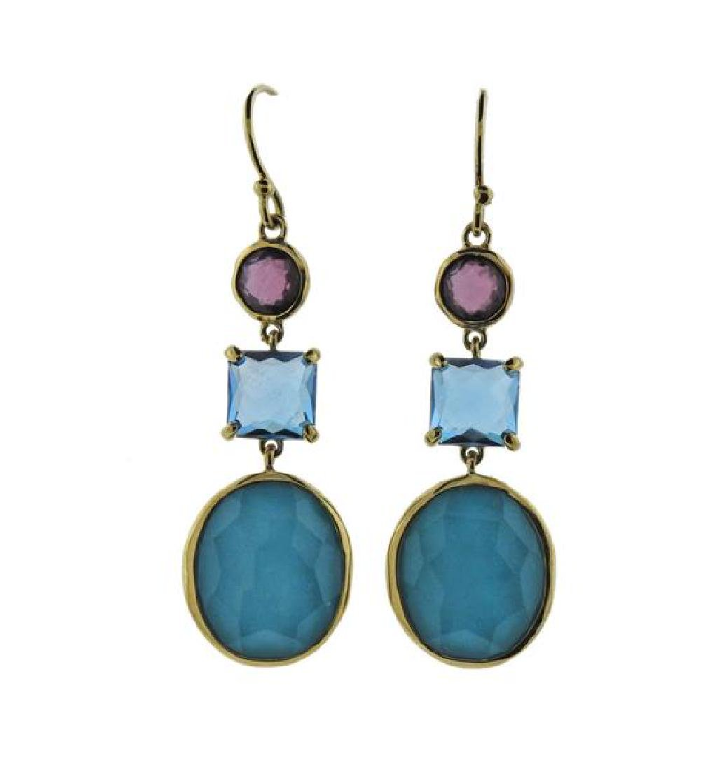 Ippolita Rock Candy Gemstone 18k Gold Earrings