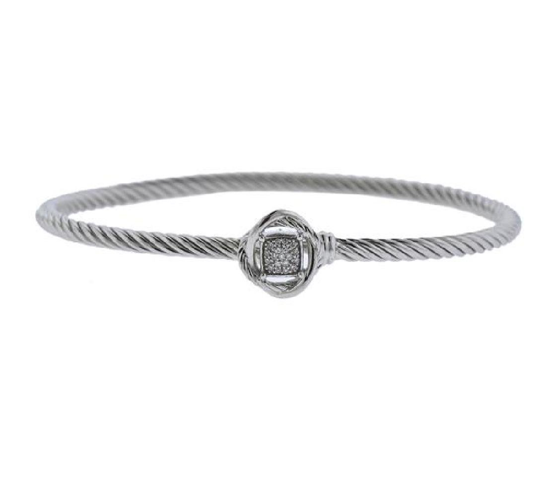 David Yurman Silver Diamond Bracelet