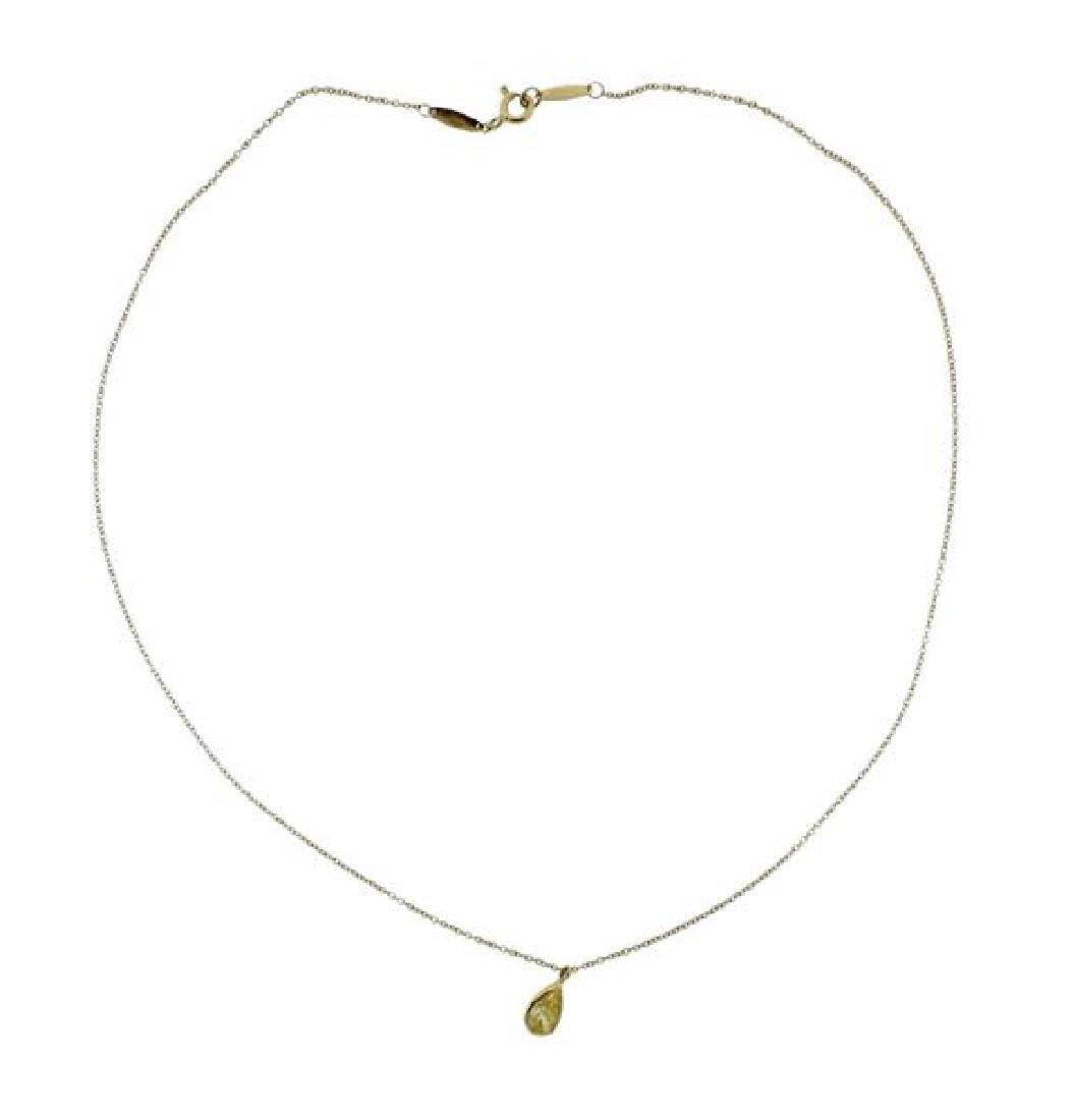 Tiffany & Co 0.53ct Yellow Diamond 18k Gold