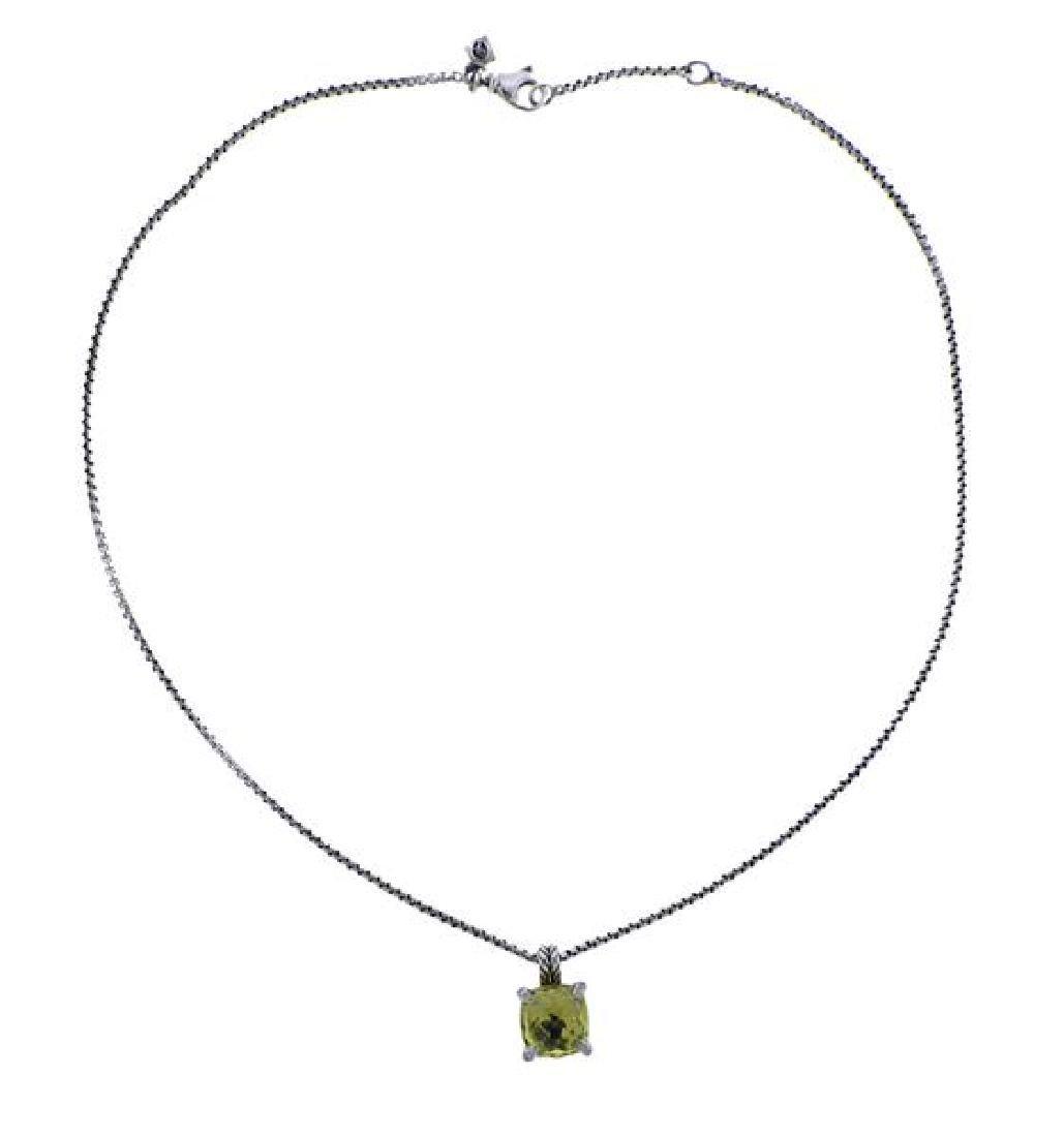 David Yurman Chatelaine Citrine Silver Necklace