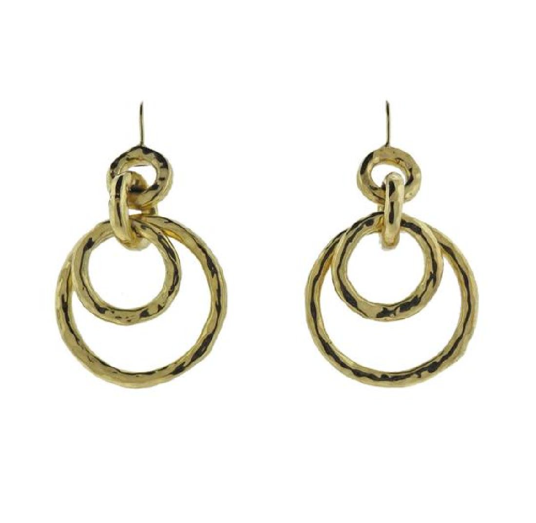 Ippolita Glamazon 18k Gold Jet Set Earrings