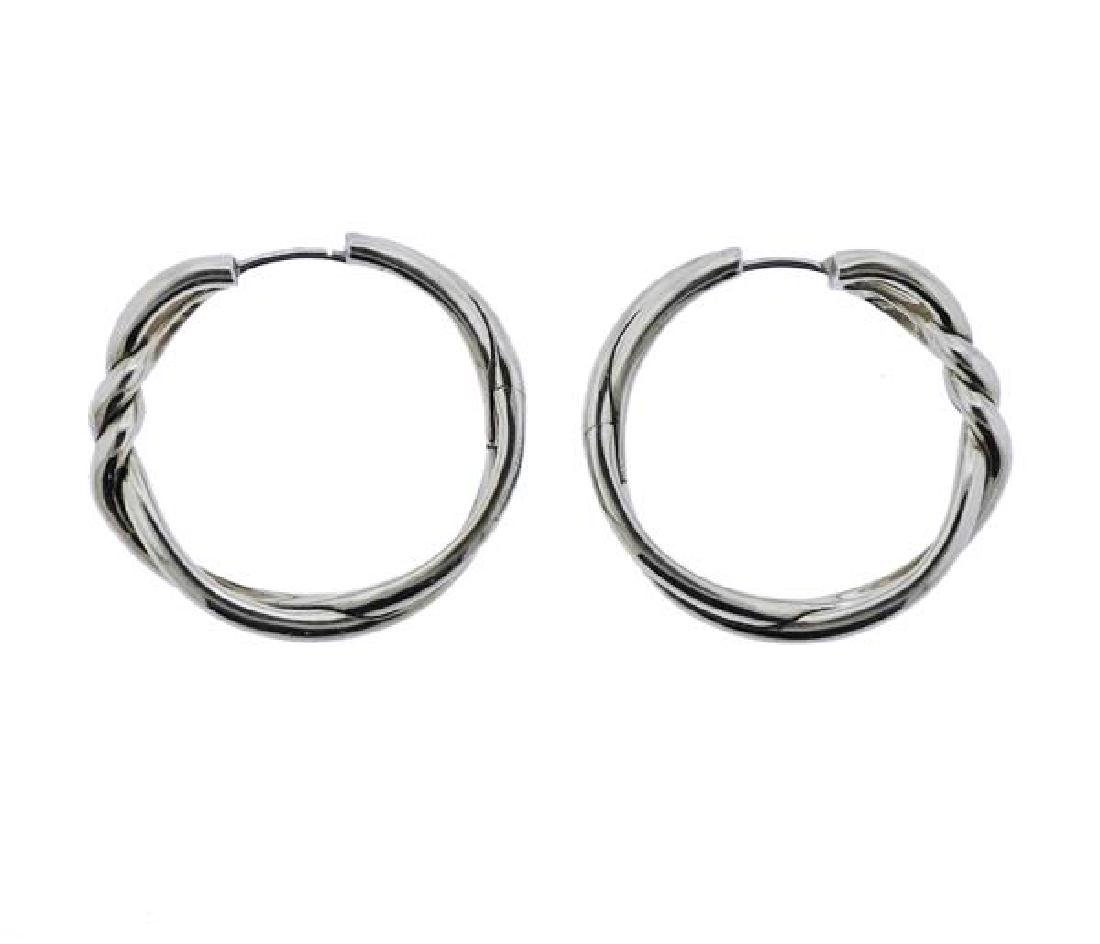 David Yurman Silver Hoop Earrings
