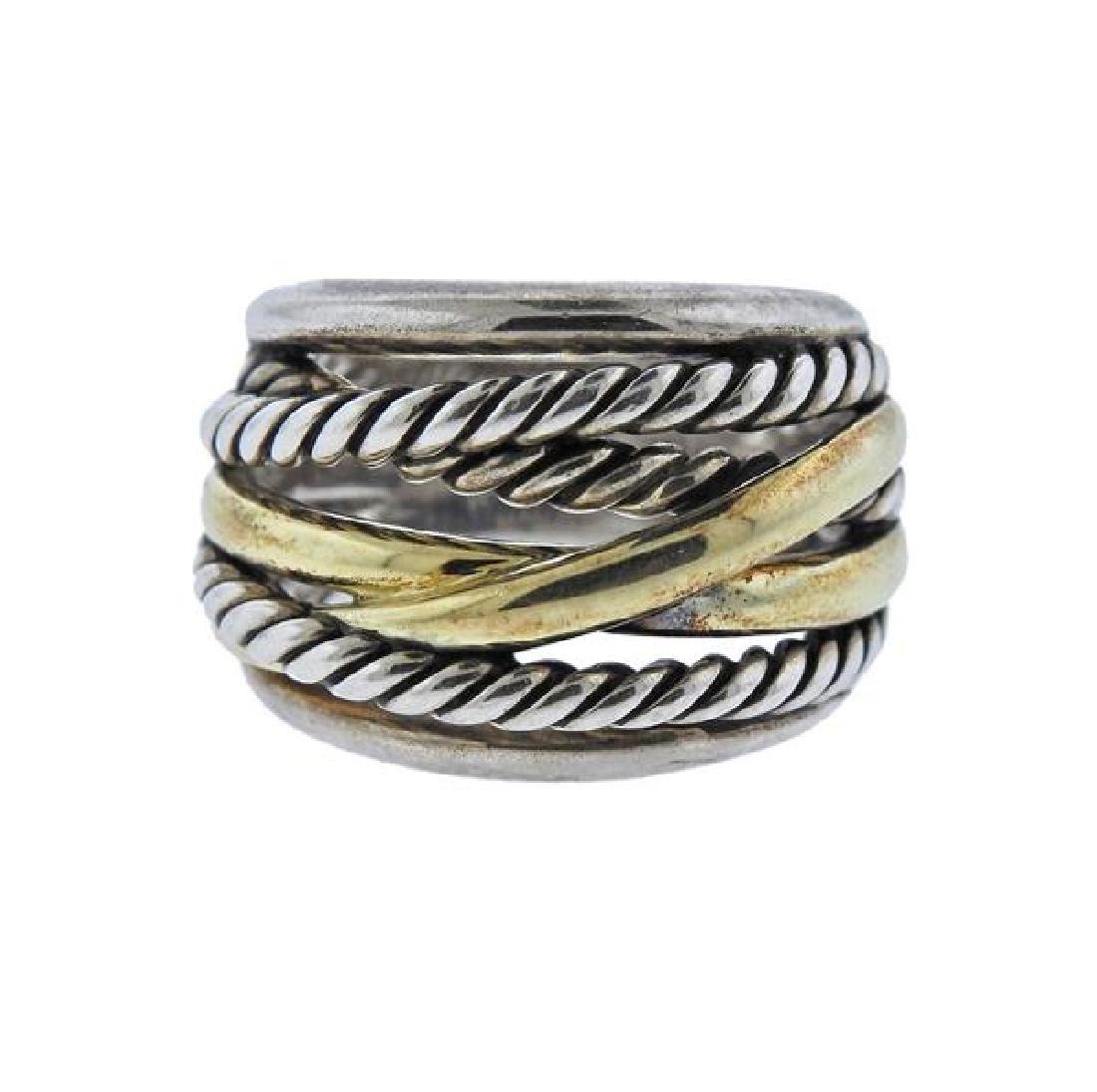 David Yurman Crossover 14k Gold Silver Ring