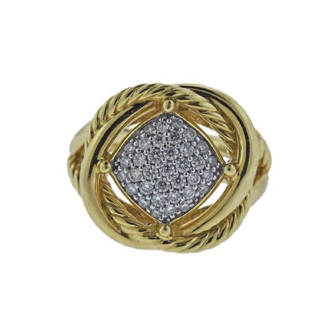 David Yurman Infinity 18k Gold Diamond Ring