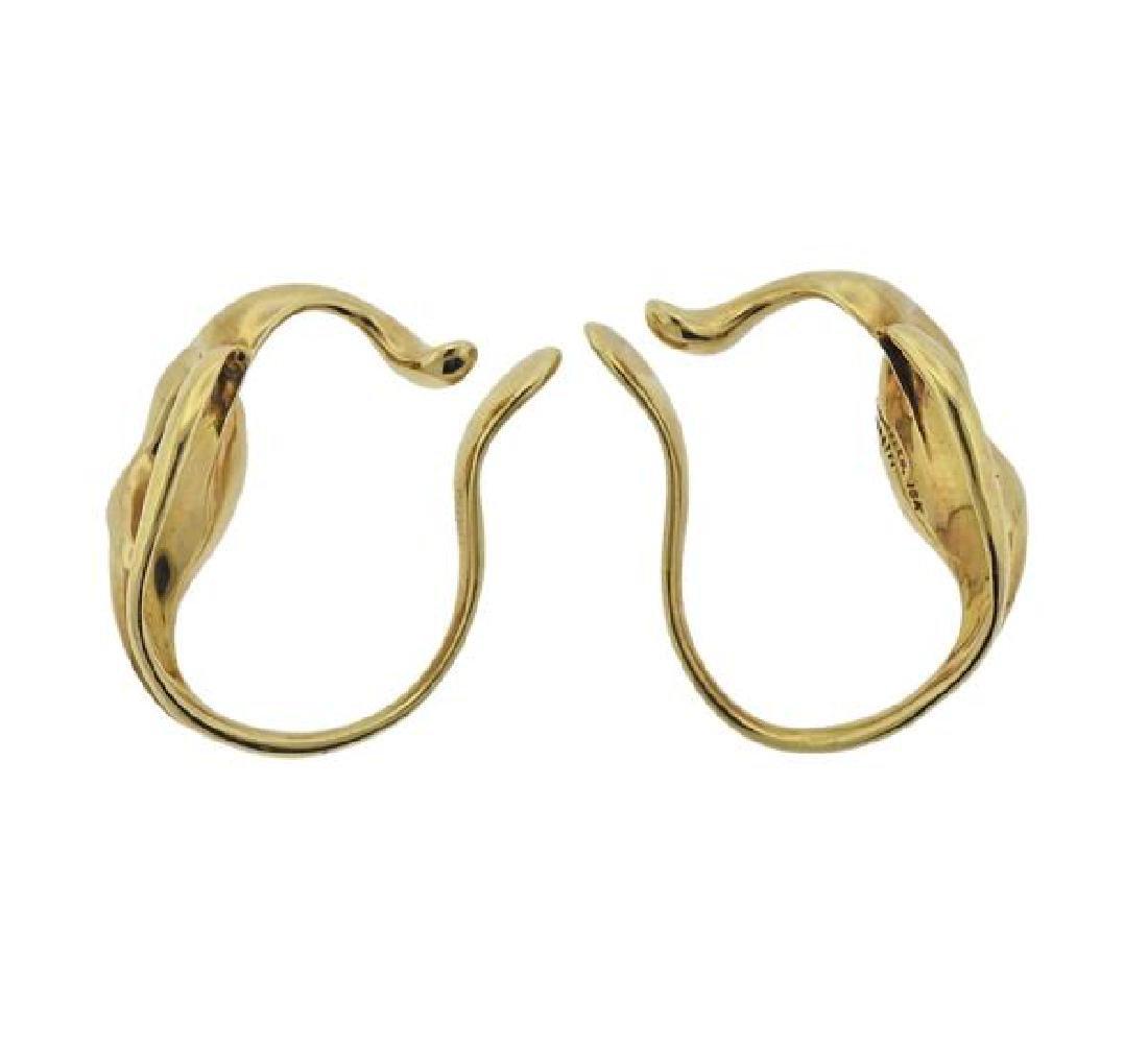 Tiffany & Co Peretti 18k Gold Cuff Earrings