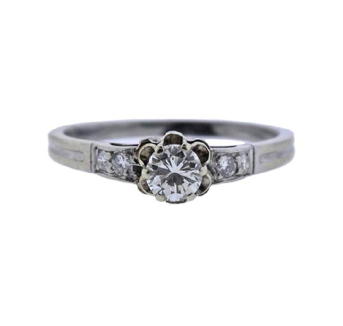 Tiffany & Co Platinum Diamond Engagement Ring