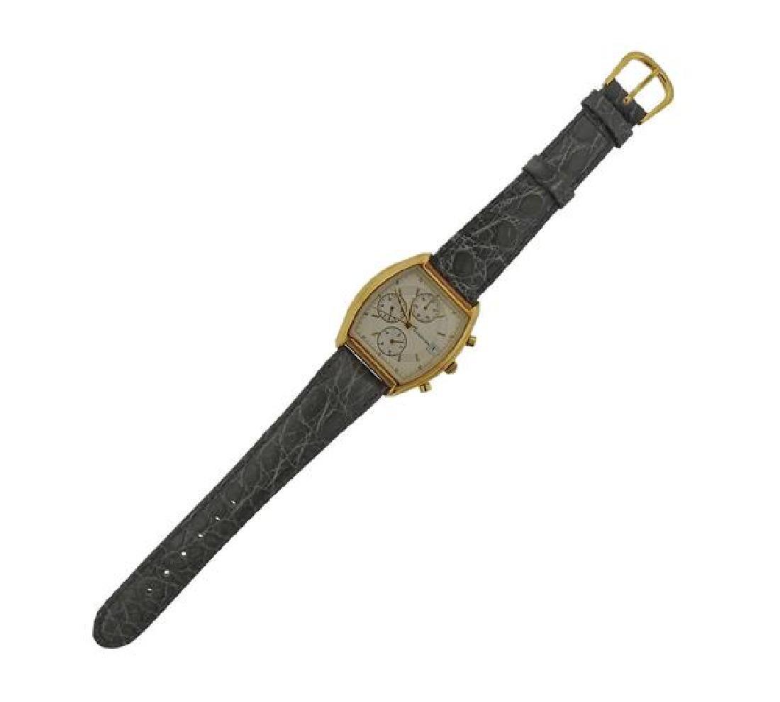 Verdura 18k Gold Chronograph Watch